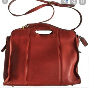 Coach Bags - VINTAGE COACH 9995 Red Briefcase